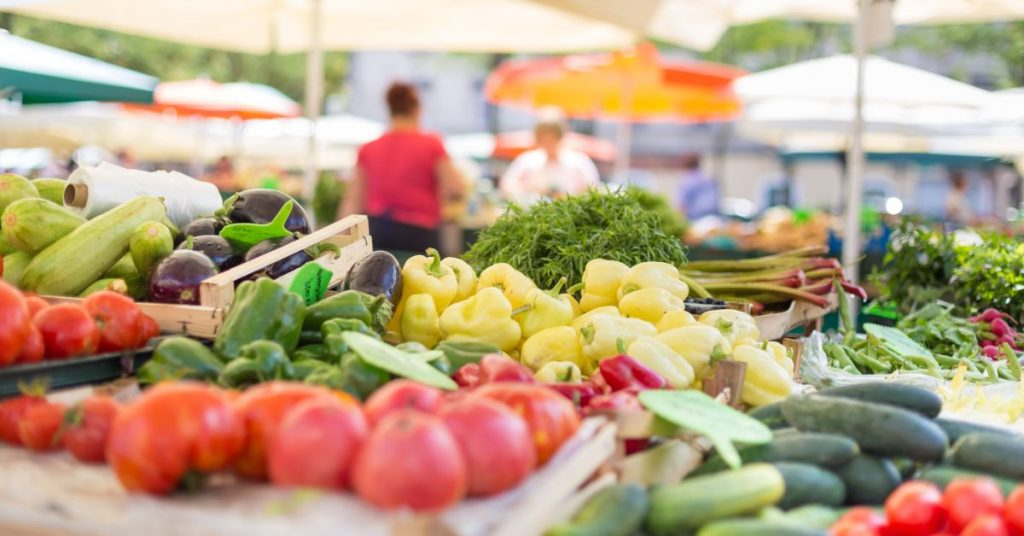 Farmers market shopping tips, what wine goes with what food